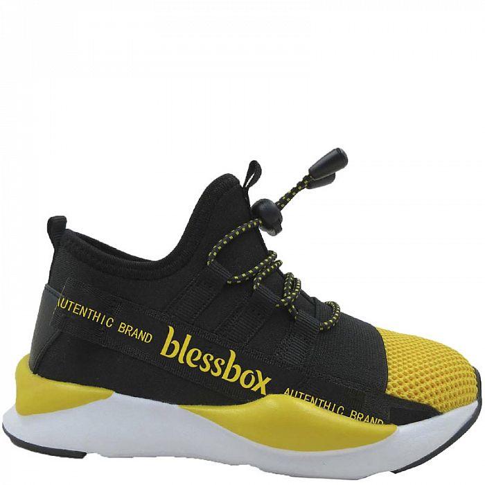 BX50180-3 черн/желт Кроссовки для мальчиков (27-32)/12 BX50180-3 черн/желт